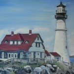 """Portland Head Lighthouse""  9"" X 12""  Oil on Canvas Private Collection"