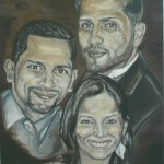 """""""Nael, Milo, & Noelia""""  Oil on Canvas  Private Collection"""