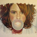 """Bubble Gum""  24"" X 30""  Oil on Canvas  Available"